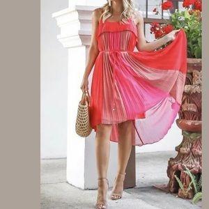 Adelyn Rae Pepper Pleated Shift Dress